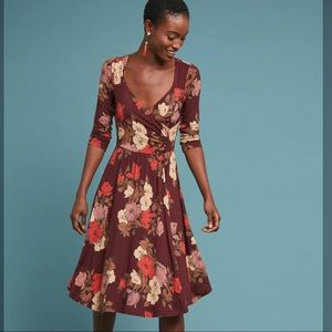 Maeve Anthro | Archival Floral Wrap Dress XS